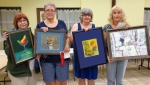 """In the apprentice category winners were: first, """"Pear Martini"""" by Beth Dewenter; second, """"Chiro"""" by Shelley Riedinger; third, """"Swirls"""" by Gwen Losh; and honorable mention, """"Dinner @ 8"""" by Dolores Crain"""