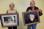 """SAL December Master Artists of the Month selected are: first place, Colleen Marquis """"Candles"""" and second place Richard Ray """"The Profit."""""""