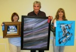 """SAL December Apprentice Artists of the Month are: first place, Beth Dewenter """"Pansies;"""" second place, John McCarroll """"Northern Lights;"""" and Delores Crain """"Couturier."""""""