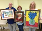 """April 2015 Winners In the Apprentice Category were awarded: First, """"Dixieland Jazz"""" by Ron Pulling; Second, """"Cowboy"""" by Beth Dewenter; and Third, """"Vase of Irises"""" by Dolores Crain."""