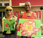 """The Apprentice artists for August are: First - Dolores Crain for """"Vase in the Window"""" and Second - Tammy Fields for """"Nothing in Life is Perfect."""""""