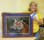 """Marie Celino received Master Artist of the Month recognition for her photograph, """"Bengal Tiger""""."""