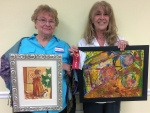 """SAL November Artists of the Month Master Division: 1st """"February Morn"""" pastel by Carolyn Leblanc, 2nd place """"Fem"""" Oil"""" by Ester Wyman, 3rd place """"Mardi Gras on the Bayou"""" watercolor by Robin Bookhart, HMention """"Solitary"""" acrylic by Beth Dewenter"""