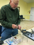 Andy Leonard demonstrated jewelry techniques at the March Meeting.