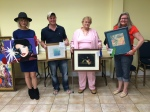 """Slidell Art League April Apprentice Artists of the month for Slidell Art League are: Second, """"Flash"""" by Nancy Pratt; Third, """"Colored Fields"""" by Joshua Black; and Honorable Mention, First, """"Tulip & Butterfly"""" by Maryann T Fabich; """"Happy"""" by Gwen Losh."""