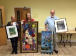 """Master Artists Winners are: First, """"Jane & Jack's Camellias"""" by Robin Miller-Bookhout; Second, """"Carnival"""" by Candace Page; Third, """"Last Flowers"""" by Viki Kennedy; Honorable Mention, """"South Mississippi"""" by John David Kennedy"""